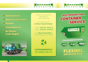 Flyer Dana Container