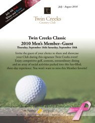 Page Template - Twin Creeks Country Club