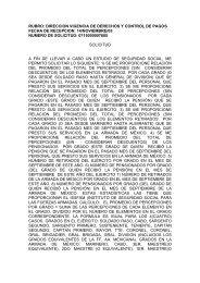 RUBRO: DIRECCION VIGENCIA DE DERECHOS Y ... - Issfam