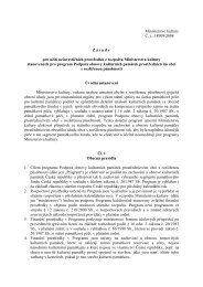 Ministerstvo kultury Č. j.: 18909/2008 Zásady pro užití neinvestičních ...