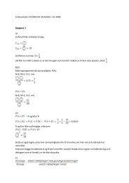 A-besvarelse i ECON2130- Statistikk 1 vår 2009 Oppgave 1 A) (i ...