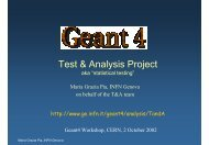 Test & Analysis Project - Geant4 - CERN