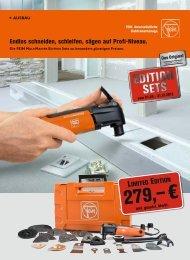 Die FEIN muLtimaster edition Sets. - Werkzeug Schmidt GmbH