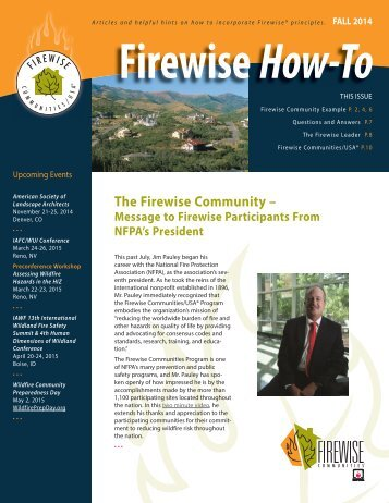 Firewise HOW-TO FALL 2014A