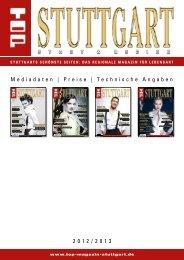 Mediadaten | Preise | Technische Angaben 2012/2013