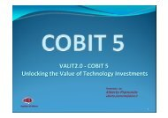 COBIT 5 Unlocking the Value of Technology Investment - PMI-NIC