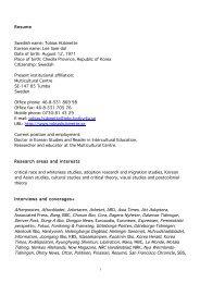 Resume Swedish name: Tobias Hübinette Korean name: Lee Sam ...