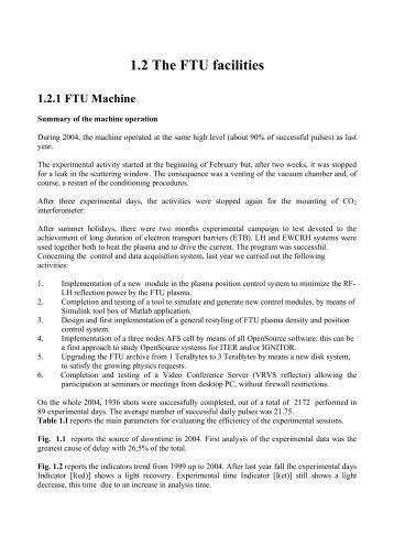 2004 progress report - ENEA - Fusione