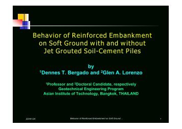 Behavior of Reinforced Embankment on Soft Ground with and ...