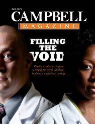 Download a PDF of the Fall 2011 issue. - Campbell University