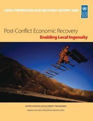 Post-Conflict Economic Recovery - Department of International ...