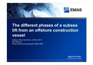 The different phases of a subsea lift from an offshore construction ...