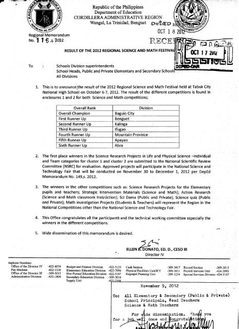 Download Memo Deped Baguio City Division