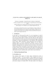 1. Introduction In this paper we will present the result of a set ... - laral