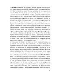 1 - - - ACTA 13.- En la ciudad de Tijuana, Baja California, siendo las ...