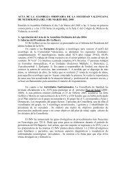 Acta de la Asamblea Ordinaria de la SVN. Marzo de 2005