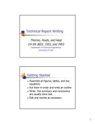 How to Write a Report (pdf) - Department of Chemical Engineering