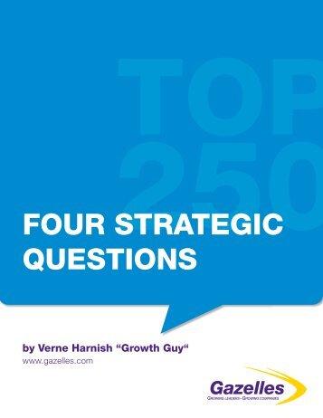 FOUR STRATEGIC QUESTIONS - Gazelles