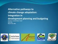 Integration in development planning and budgeting - Regional ...