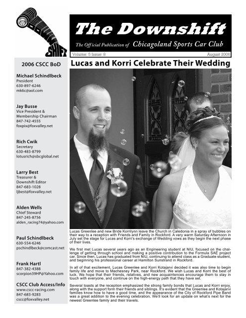 August 2006 - Lucas and Korri Celebrate Their Wedding