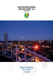 raport roczny 2008 - Elektrociepłownia