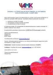 sosiaali- ja terveysalan kehittämisen ja johtamisen koulutusohjelma
