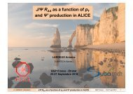 J/Ψ R as a function of p and Ψ' production in ALICE