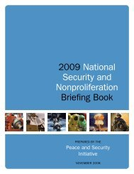 2009 National Security and Nonproliferation Briefing Book