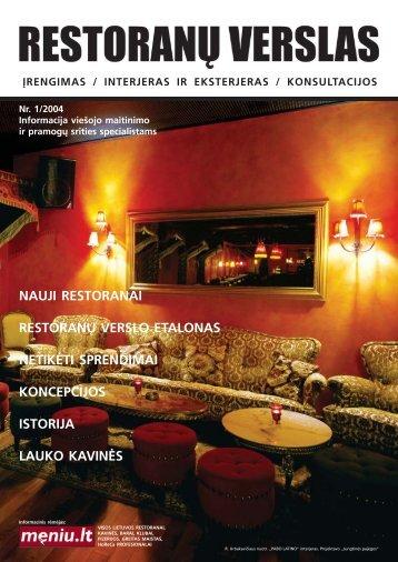 RI maketas - Restoranų verslas