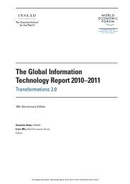 Global Information Technology Report 2010-2011. Transformations ...