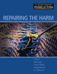 Repairing the Harm - National Center for Victims of Crime