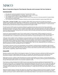 Download this Press Release (PDF 16 KB) - Masco Corporation
