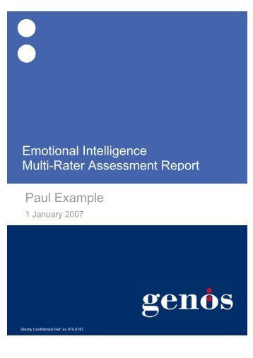 Paul Example Emotional Intelligence Multi-Rater Assessment Report