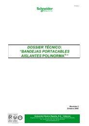"DOSSIER TÉCNICO: ""BANDEJAS ... - Schneider Electric"