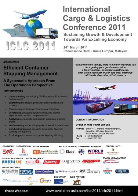 Shipping Masterclass Brochure