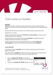 Total omstart av Handifon - Abilia