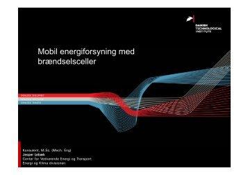 Mobil energiforsyning med brændselsceller