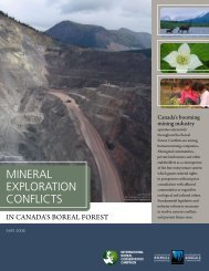 Mineral Exploration Conflicts in Canada's Boreal Forest