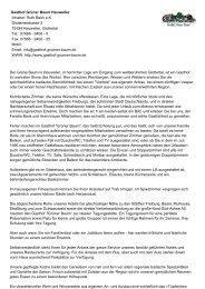 Gasthof Grüner Baum Heuweiler Inhaber: Ruth Bank e.K. ...