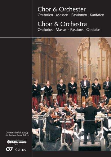 Chor & Orchester Choir & Orchestra