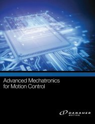Advanced Mechatronics for Motion Control - MEI Motion ...