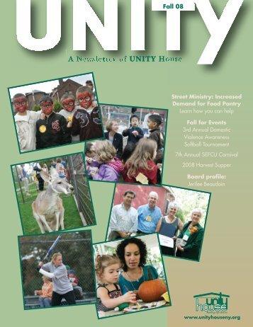Newsletter December 2008 - Unity House