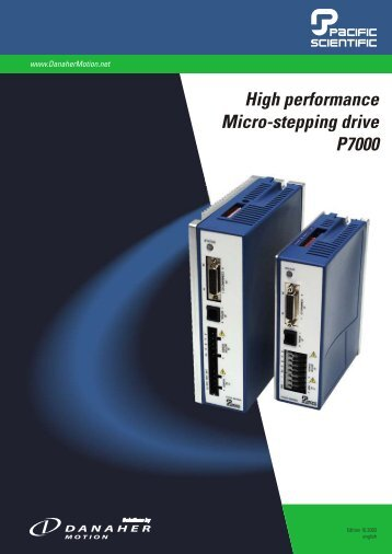 High performance Micro-stepping drive P7000 - Motor Technology Ltd