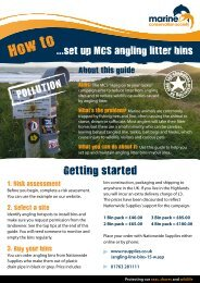 How to set up MCS angling litter bins - Marine Conservation Society