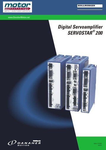 Digital Servoamplifier SERVOSTAR 200 - Motor Technology Ltd