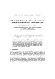 The Sensitivity Analysis of Runoff from Urban Catchment Based on ...
