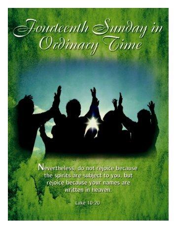 Bulletin for July 7, 2013 - St. John University Parish