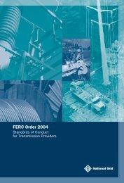 FERC Order 2004 - National Grid