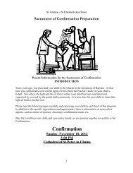Confirmation Handbook - Saint Andrew Parish