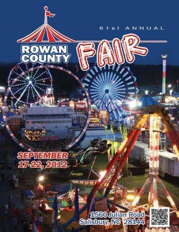 download the online FAIR BOOK - Rowan County Fair